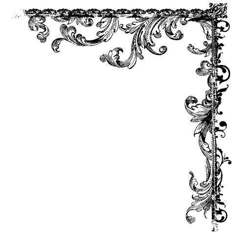 Black Bedroom Furniture Decorating Ideas set of vintage vector frame border divider corner retro