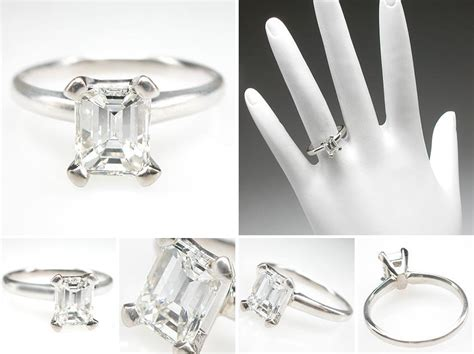 ring settings engagement ring settings emerald cut