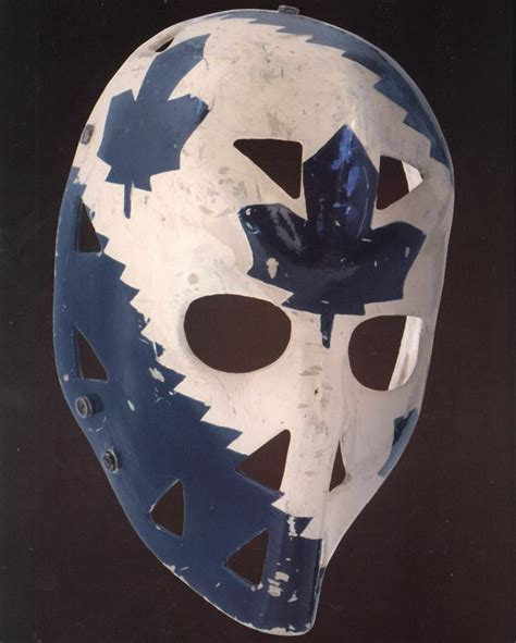 mike palmateer goalie mask leafs  color photo ebay