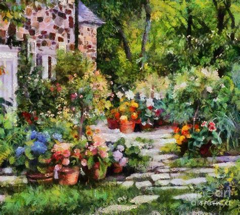 Through The Garden by Walk Through The Garden Painting By Elizabeth Coats