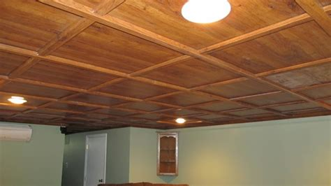 Wood Drop Ceiling Panels by 18 Best Images About Basement On Entry Ways Stairs And Ceiling Design