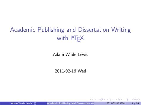 latex tutorial thesis writing 2011 march03 lewis latex tutorial