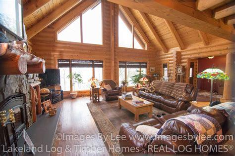beautiful log home photo gallery beautiful log home on green lake lakeland log and timber