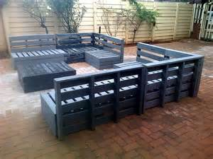 How To Make Patio Furniture With Pallets by Superb Pallet Patio Furniture Set 101 Pallets