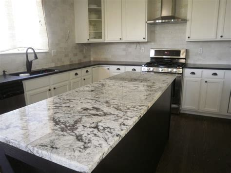 Black And White Granite Countertops Black Pearl Honed Perimeter And Cold Granite Island