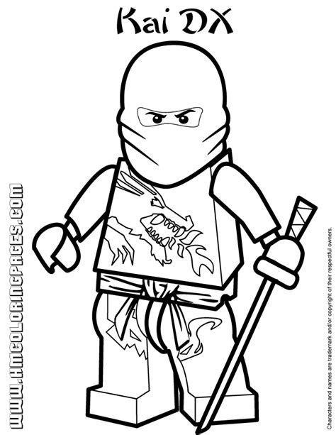 Lego Ninjago Coloring Pages Kai Dx | ninjago masters of spinjitzu kai dx coloring page h m
