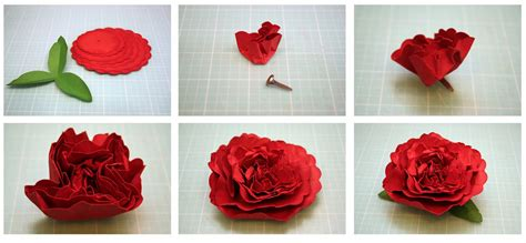 How To Make A 3d Flower Out Of Construction Paper - bits of paper 3d carnation and hydrangea paper flowers