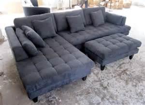 Gray Microfiber Sectional Sofa 3pc Design Gray Microfiber Sectional Sofa Set