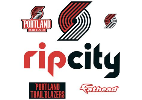 Auto Decals Portland by Portland Trail Blazers Rip City Logo Wall Decal Shop