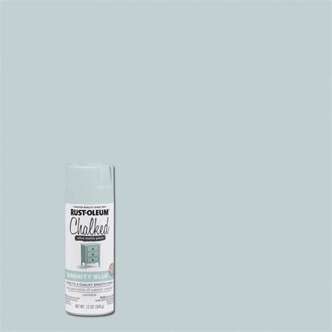 serenity blue paint rust oleum 12 oz serenity blue chalked spray paint 6