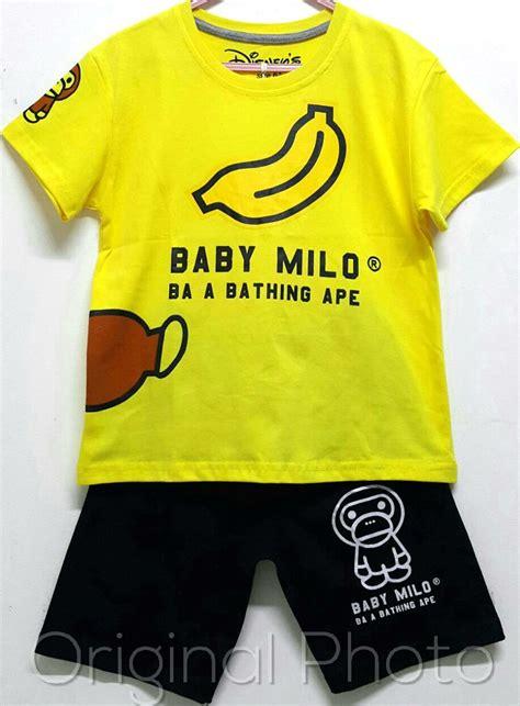 Kaos Baby Milo setelan anak baby milo grosir baju anak branded baju