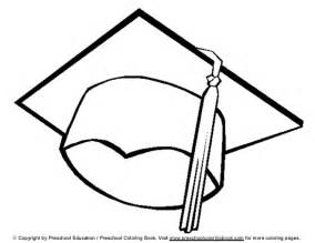 Graduation Cap Colouring Pages sketch template