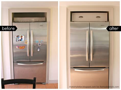 Refrigerator Cabinet by Remodelaholic Build A Cabinet The Fridge