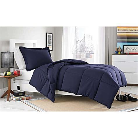 navy blue twin comforter buy micro splendor twin twin xl comforter set in navy blue