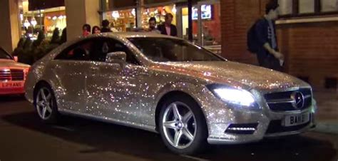 pink sparkly mercedes 1 a mercedes that glitter all