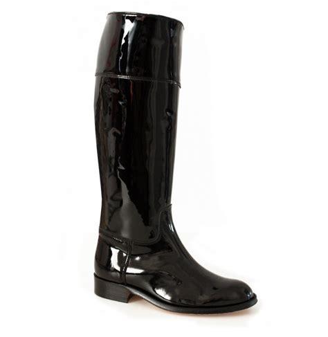 black patent leather boots black varnished