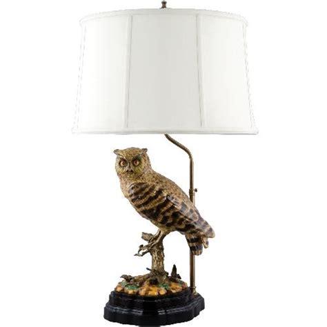 frederick cooper ls ebay naturalistic porcelain and brass owl bird l figurine