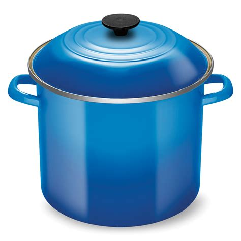 creuset pot le creuset enameled steel stock pot 12 quart marseille