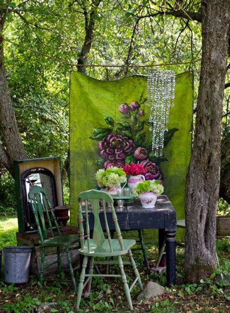Planting The Chic In Cheap by 12 Shabby Chic Bohemian Garden Ideas 1001 Gardens