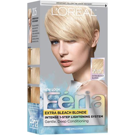 best box hair bleach blonde l oreal paris feria 174 intense 1 step ligtening system 205