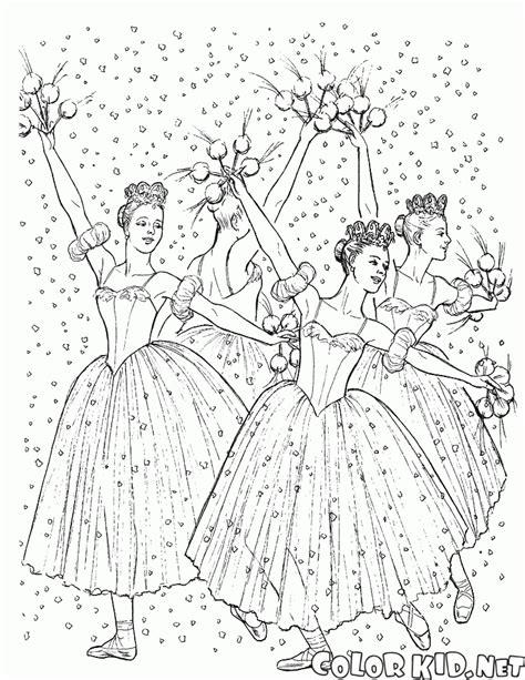Coloriage Costumes Magnifiques Ballerine