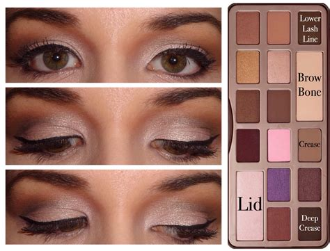 Eyeshadow Faced 5 faced chocolate bar palette looks makeup md