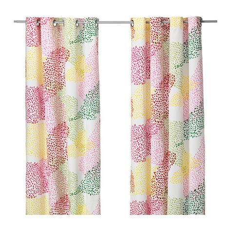 ikea kitchen curtains ikea murgr 214 na murgrona curtains white multicolored one pair cotton 57x98