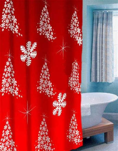 christmas curtains christmas bath shower curtains images