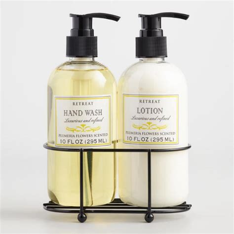 hand soap and lotion caddy set