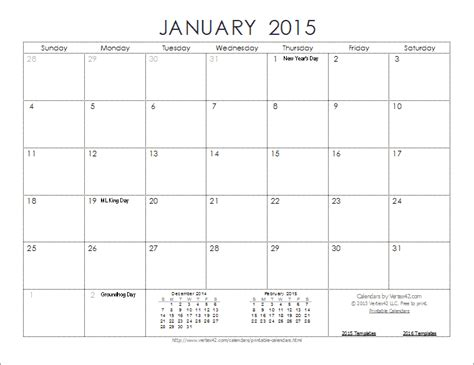 Free 2015 Calendar Template New Calendar Template Site Monthly Calendar Template For 2015