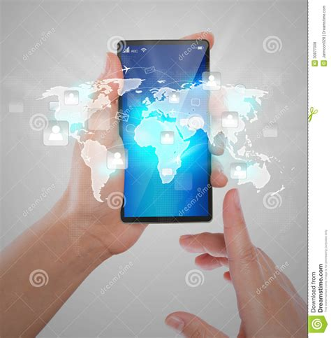 mobile phone technology mobile compter technology royalty free stock photo