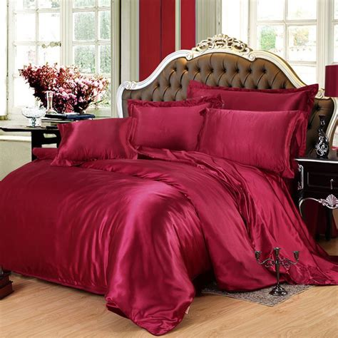 maroon bedspreads comforters burgundy silk bedding set twin full queen king size