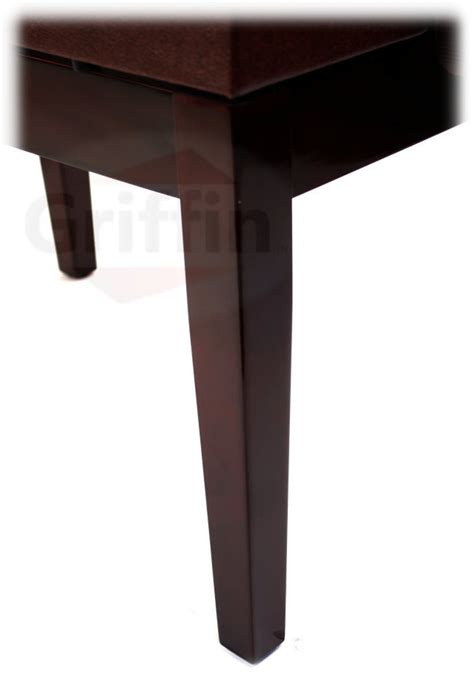 griffin piano bench brown leather piano bench griffin storage adjustable