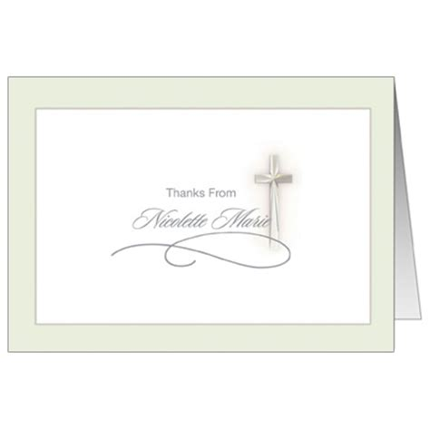 confirmation thank you card template simple cross communion invitation communion