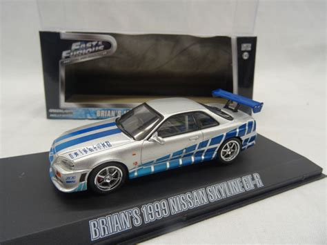 Greenlight Brians 1999 Nissan Skyline Gt R Extremely fast and the furious greenlight collectibles 1 43