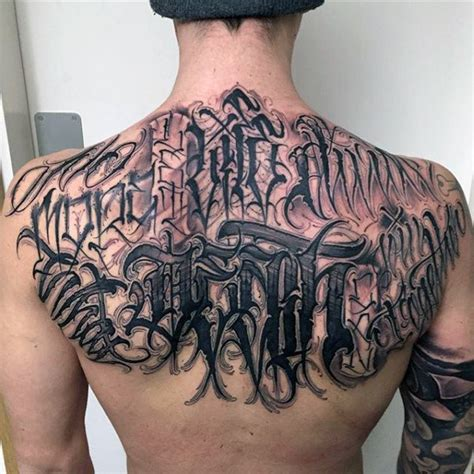 tattoo letters back 75 tattoo lettering designs for men manly inscribed ink