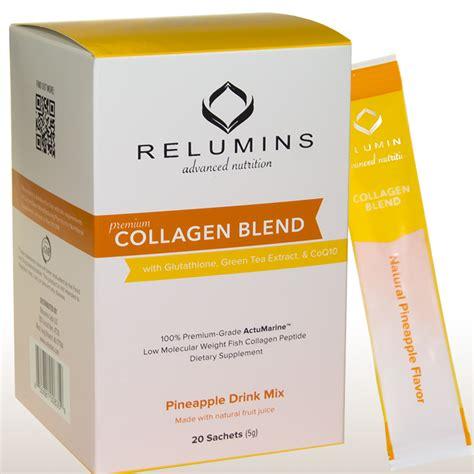 Ecer Sachet Collagen Whitening Drink Rc relumins premium collagen blend 20 sachets 100 premium grade actumarine collagen with