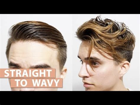 straight  wavy hair    products mens