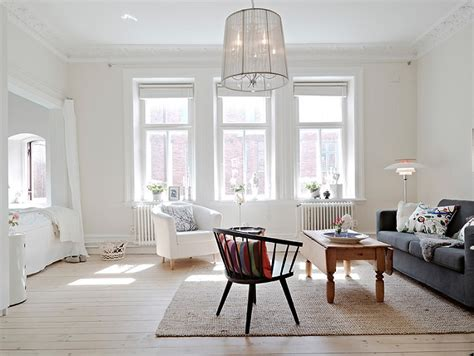 swedish interiors white studio with alcove bed in sweden 171 interior design files