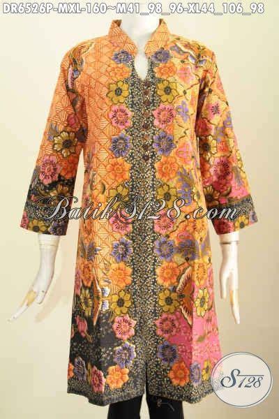 Batik Printing Bahan Halus Model Banyak Btm01011 jual pakaian batik masa kini produk baju batik berkelas model kancing banyak dan pake saku