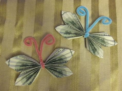 money origami butterfly easy comot