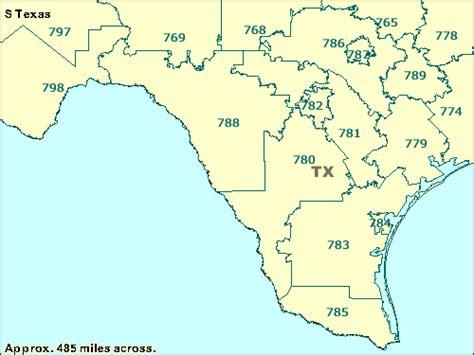 texas 3 digit zip code map nugala
