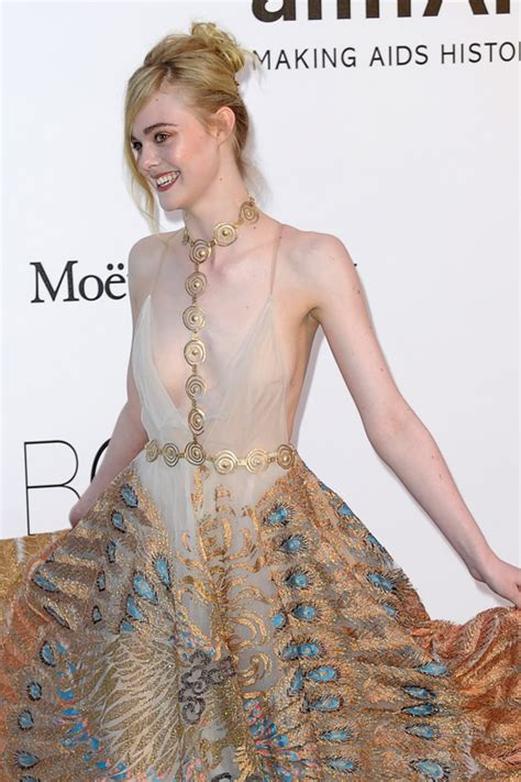Hotel Du Cap Eden Roc by Elle Fanning In Valentino Couture At The Amfar S 2016