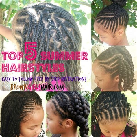 Black Hairstyles Braids For Swimming by Top 5 Hairstyles For Summer Brown Style