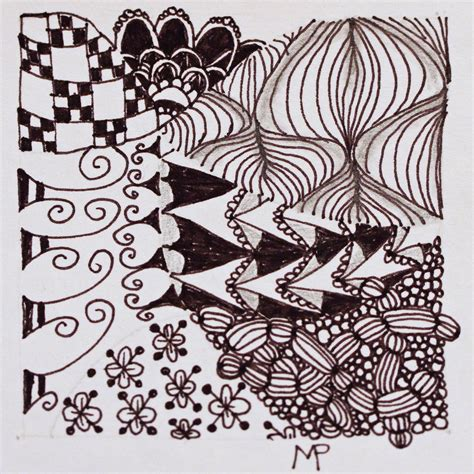 zentangle pattern crusade daisy s book journal needlework tuesday zentangles and more