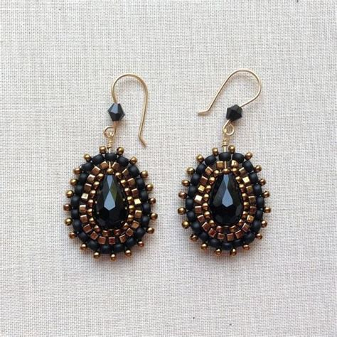 new ases style shapes brick stitch bling earrings