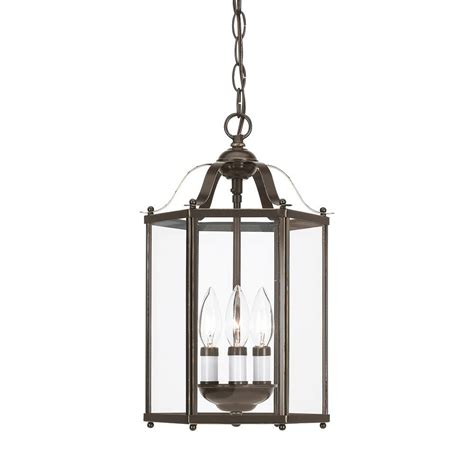 foyer lighting sea gull lighting 3 light heirloom bronze incandescent