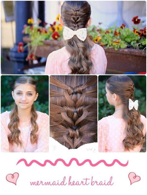 diy hairstyles we heart it the perfect diy mermaid heart braid hairstyle the