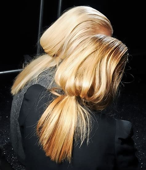 ponytail hairstyles 2013 14 low ponytail hair trend the high low of ponytails chic obsession