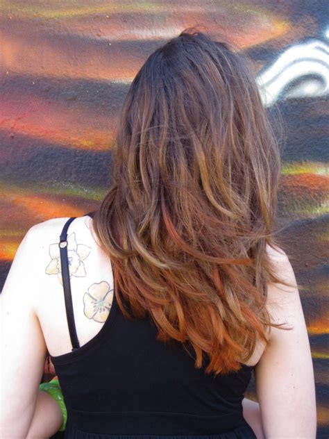how to dye the bottom of your hair dark how to section techniques bottom half dyed hair color